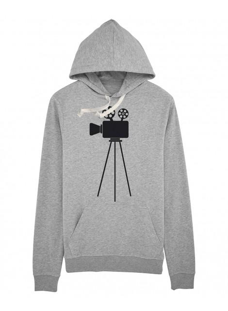 Sudadera capucha cámara cine