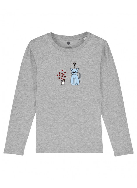 Camiseta Manga larga niños Gato y ratón