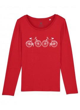 Camiseta Mujer Manga Larga - Bicis