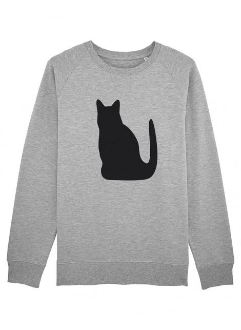 Sudadera Unisex 100% - Gato negro