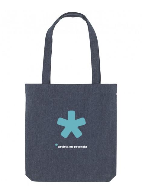 Artista bolsa azul