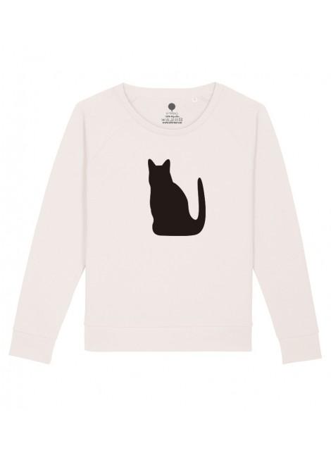 Sudadera Mujer - Gato negro