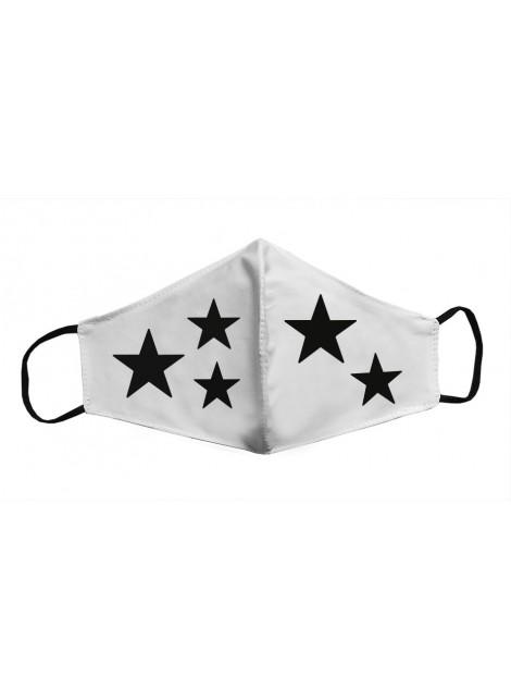 Mascarilla Adultos - Estrellas negras
