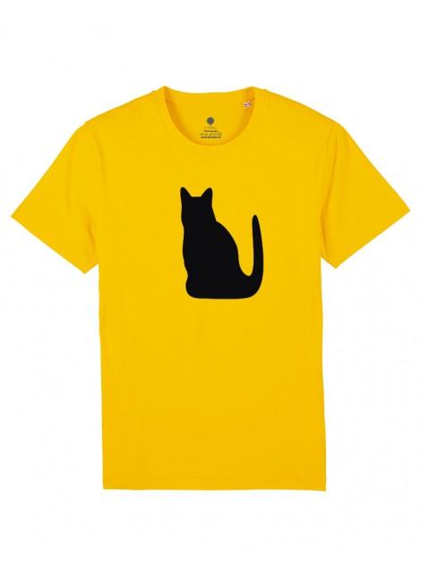 Unisex amarilla - Gato negro