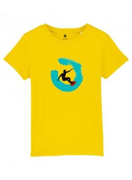 Camiseta Niños Unisex - Surfista con ola.