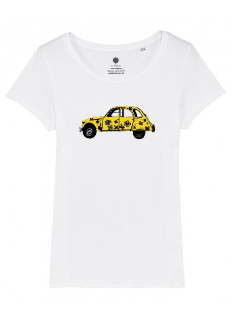 Camiseta mujer - Dos caballos-Oferta
