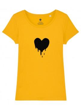 Camiseta Mujer - Corazón derretido.