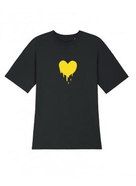 Vestido Relaxed Fit - Corazón amarillo
