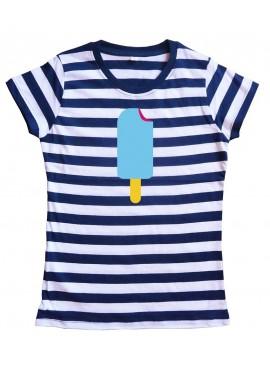 Camiseta Chica Helado Azul